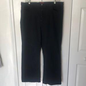 NYDJ Black Plus Size Slimming Jeans Straight Leg